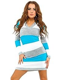 Glamour Empire. Para mujer Vestido tipo jersey detalle de rayas colour block 405
