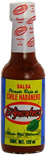 MexGrocer El Yucateco Green Habanera Salsa 120 ml (Pack of 2)