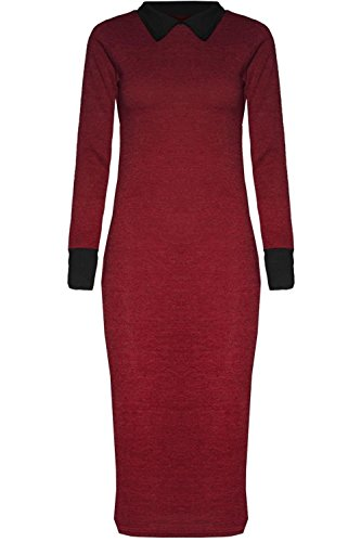 Chocolate Pickle ® Mesdames Tricots thermique Midi Dress Wine