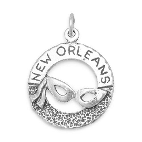 New Orleans Mardi Gras Masken - Sterling Silber Open Britischer Charme mit