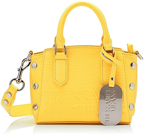 Tote Bag Jeans (Trussardi Jeans Damen Melly Tote Xs Bag, Gelb (Yellow), 18x15x9 centimeters)