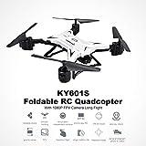 KY601S Selfie pieghevole RC FPV drone Quadcopter con fotocamera HD 1080P Long...