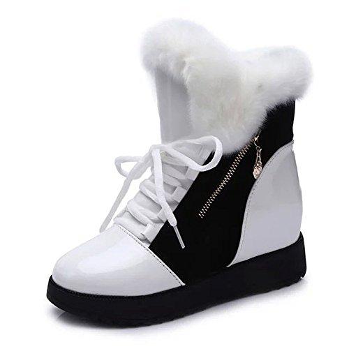 minetom-donna-autunno-inverno-caldo-soffice-stivali-moda-vernice-piattaforma-scarpa-stringate-pellic
