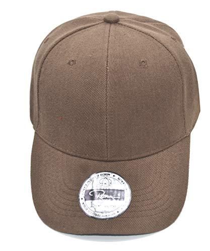 REDRUM Cappy Klettverschluss Cap Kappe Schirmmütze (Braun) (Braunes Cap Baseball)