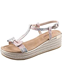 La cuña linda del verano calza los zapatos elegantes de las señoras de las sandalias de tacón alto de la tabla impermeable ( Color : Pink , Tamaño : 36 )