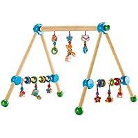 solini Spieltrapez Waldtiere mit Glocken / Kinderspielzeug / Spielbogen aus Holz / ab Geburt / bunt preisvergleich bei kleinkindspielzeugpreise.eu