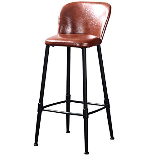 Bar-stuhl-seat-kissen (ch-AIR Barstool im industriellen Stil | Vintage Stuhl mit PU-Kissen für Bar Küche (größe : Seat height-75cm))