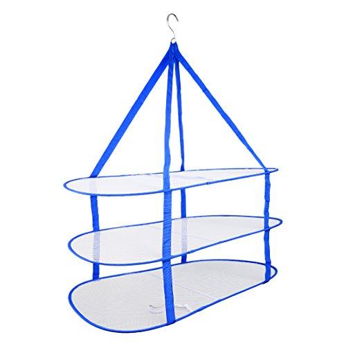 Maglione Stendini, Hipsteen Tre strati di vestiti carrello pieghevole Mesh Hanging Rack Maglione essiccazione - (Piegare I Vestiti Rack)