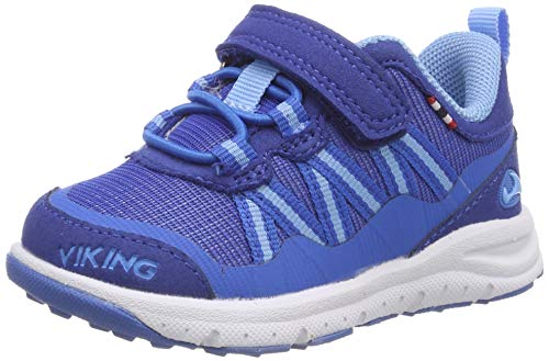 Viking Unisex-Kinder Holmen Cross-Trainer, Blau (Dark Blue/blue 7635), 32 EU