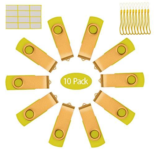 Lote de 10 Pen Drives 16 GB básicos para decorar