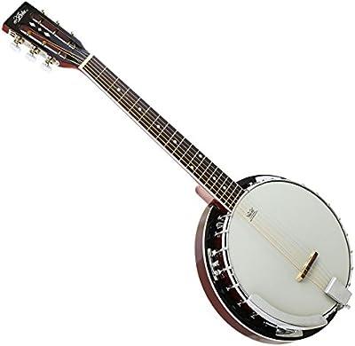 Banjo Guitarra 6cuerdas Aire sb-10g MH–Caoba Natural