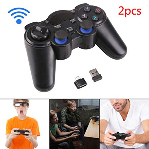 Rabusion New 2 pz 2.4 G Wireless Game controller Gamepad joystick per PS3 Android TV Box
