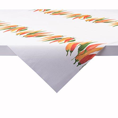 Sovie HOME Tischdecke Chili | Linclass® Airlaid 80x80 cm | Mitteldecke stoffähnlich praktisch | Grillen Garten Party