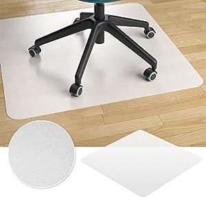Vicco Bodenschutzmatte Bürostuhlunterlage Bodenmatte Stuhlunterlage weiß (90 x 90 cm)