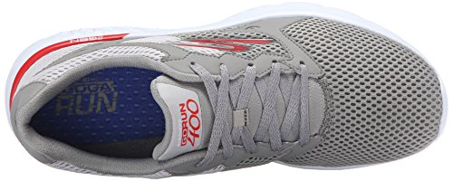Skechers Go Run 400, Chaussures Multisport Outdoor Homme Light Gray/Red