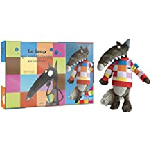 Le Loup qui voulait changer de couleur - Coffret livre (petit format) + peluche Loup + pull à carreaux