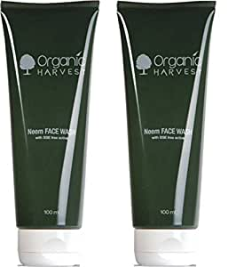 Organic Harvest Neem Face wash 100 ml (Pack of 2)
