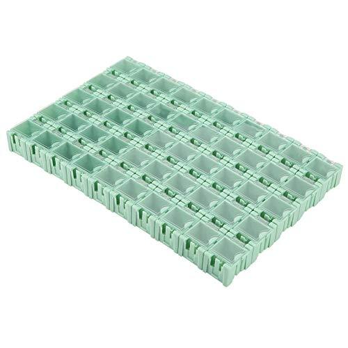 50Pcs Smt Smd Aufbewahrungsboxen, Container Box Elektronische Komponenten Teile Mini Lagerung Mit Klarsichtdeckel