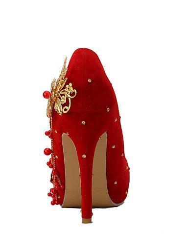 WSS 2016 Chaussures de mariage-Rouge-Mariage / Habillé / Soirée & Evénement-Talons-Talons-Homme 4in-4 3/4in-us5 / eu35 / uk3 / cn34