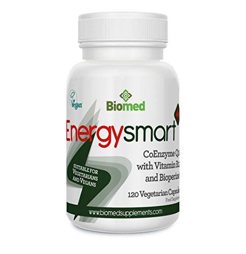 Energysmart CoQ10 100mg con Vitamina B12 & BioPerine (estratto pepe nero) per il Massimo Assorbimento, 120 Compresse Vegetariane Vegane (4 Mesi di Trattamento) Integratore Ultra Forte di Rite-Flex