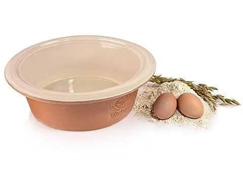 Bluespoon Brottopf aus Keramik Rund | Backform Durchmesser 24,5 cm | Keramiktopf für die Aufbewahrung und das Backen von Brot | Mit lasierten Innenseiten