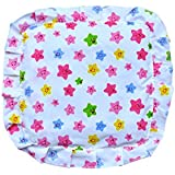 Premium Quality Mustard Seeds Baby Sleeping Pillow,New Born Baby Cotton Soft Fabric Musterd Seeds Rai Pillow For Baby Head Shaping Takiya Detachable Mustard / Rai Seed Pouch For Easy Washing By GoodLuck A To Z Born Baby Items™ (White Cartoon STAR)