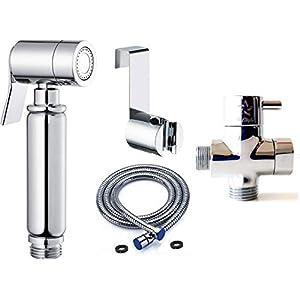 BbfStyle – Elegancia, Diseño y Calidad – Set de Ducha de Bidés Toilet con válvula de 3 vías – Para higiene íntima…