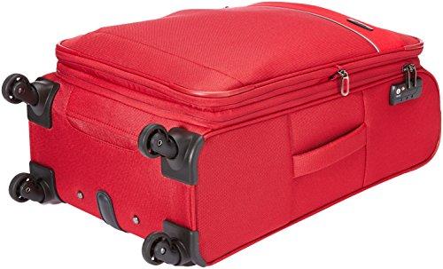 41TeuefpxvL - Travelite DELTA Kofferset, 4 teilig, 4-Rad L/M, 2-Rad S, Bordtasche, Rot, 89240-10 Juego de maletas, 78 cm, 235 liters, Rojo (Rot)