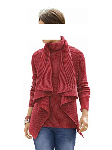 Alba Moda - Gilet - Opaque - Femme Rouge Rostrot Rouge - Rostrot