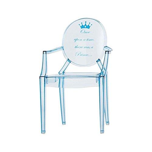 Kartell Lou Lou Ghost - Chaise d'enfant Motif Bleu Clair/Motif Prince/LxPxH 40x37x63cm