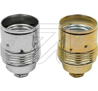 En métal chromé culot e27 avec gaine métal leuchtenfassung douilles de lampes