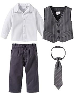 BORNINO FESTLICHE MODE 4-tlg. Set Anzug mit Weste, Hemd, Hose und Krawatte