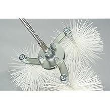Expand Brush–Kit Deshollinador con varilla flexible 8metros, 3scovoli de diámetro 40mm para la limpieza de todas las cañas instalaciones