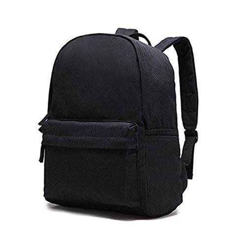 classic-canvas-backpacks-student-bookbag-hiking-travel-crossbody-double-shoulder-backpack-black