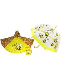 Bugzz - Abrigo impermeable - para niña Amarillo amarillo
