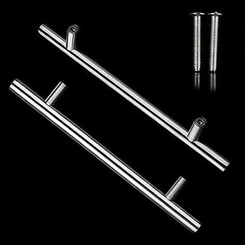 20 x 198 mm Griffe BigTree T-Form Edelstahl-Griff Möbelgriffe Stangengriff Für Schrank Schublade Tür Möbel in Silber