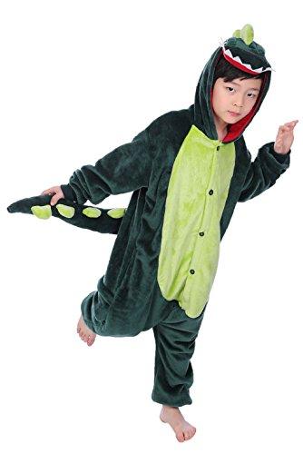 Heekpek® Kinder Einhorn Pyjamas Kostüm Jumpsuit Tier Schlafanzug Unisex Fasching Cosplay Karneva (M (Hohe:100-110cm), (Tiere Dinosaurier Kostüme)