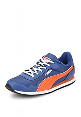 Puma Men's Street Rider DP Limoges, Red Orange and White Boat Shoes - 10UK/India (44.5EU)