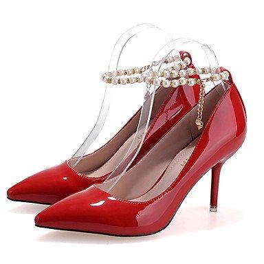 Moda Donna Sandali Sexy donna caduta tacchi Comfort PU Casual Stiletto Heel altri nero / viola / rosso / grigio altri Black