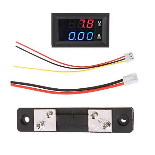 Cansenty DC 0-100 V / 50 A Rot Blau Digital Voltmeter Amperemeter LED Dual Display Spannung Stromanzeige Monitor Detektor B Dc-spannung Detektor