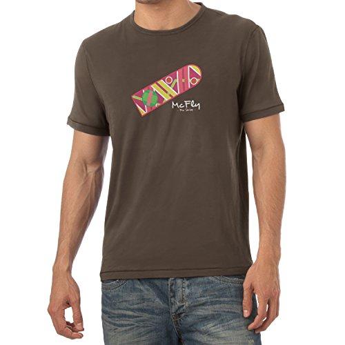 Texlab Herren McFly Pro Series Hoverboard T-Shirt, Braun, XXL