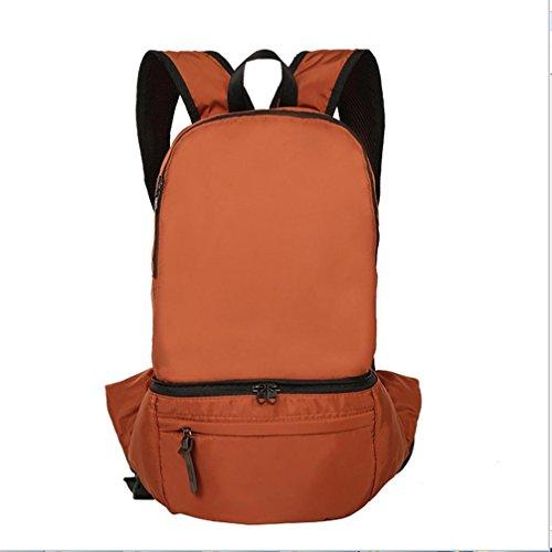 BUSL Großraum-outdoor-Touren Wandern Tasche falten wasserdichtes Nylon 28L Rucksack Tasche Brown