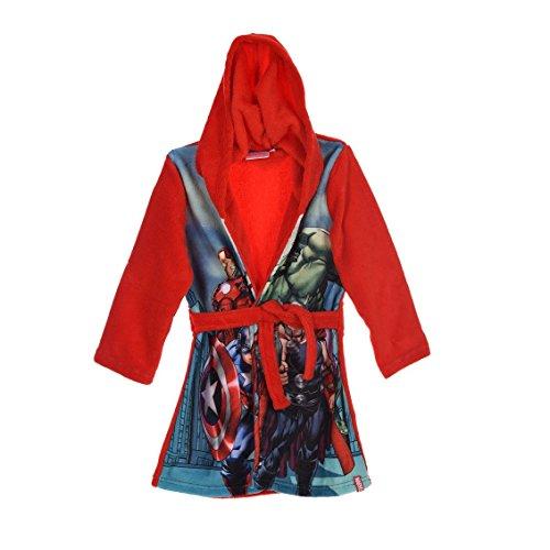 en Bademantel Morgenmantel (116 (6 Jahre), Rot) (Fleece Pjs Für Kinder)