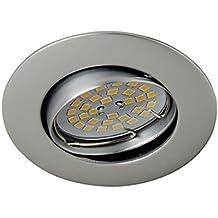 Wonderlamp W-E000019 Basic Basic - Foco empotrable redondo basculante 30º, color acero