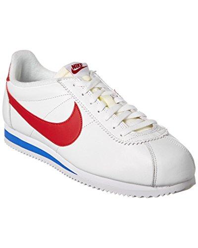 Nike Classic Cortez Prem, Chaussures de Running Entrainement Homme, Blanc, 45.5 EU Blanco / Rojo / Azul (White / Varsity Red-Vrsty Royal)