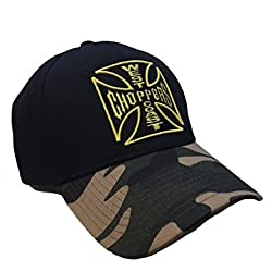 WCC West Coast Choppers Cap Camo Warrior Black