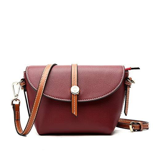 DRAKE18 Sattel Umhängetasche für Frauen Vintage rustikale Retro-Stil aus echtem braunem Leder handgefertigte Handtasche,WineRed
