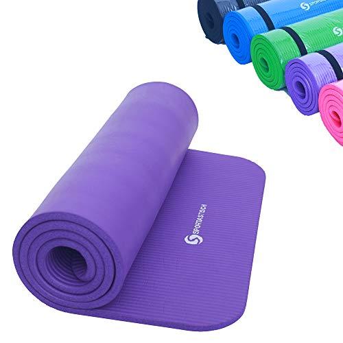 Sportastisch Top¹ Gymnastikmatte Gym Mat Pro mit Tragegurt | LILA | Premium Yogamatte: rutschfest | GRATIS E-Book und bis zu 3 Jahre Garantie²