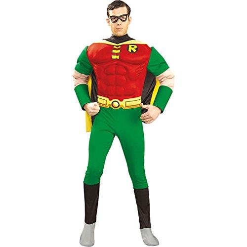 Kostüm Mann Superhelden - Robin Kostüm L 52/54 Robinkostüm aus der Batman Reihe Superhelden Outfit Verkleidung Herren Männer Karneval