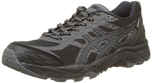 Asics Damen Gel-Fujitrabuco 5 G-TX Laufschuhe, Schwarz (Black/Dark Steel/Silver), 41.5 EU (Asics Volleyball-schuhe Für Frauen)
